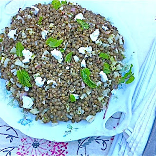 French Lentil Salad with Fennel, Mint, and Feta