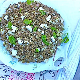 French Lentil Salad with Fennel, Mint, and Feta.