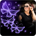 Neon Butterfly Photo Frames icon