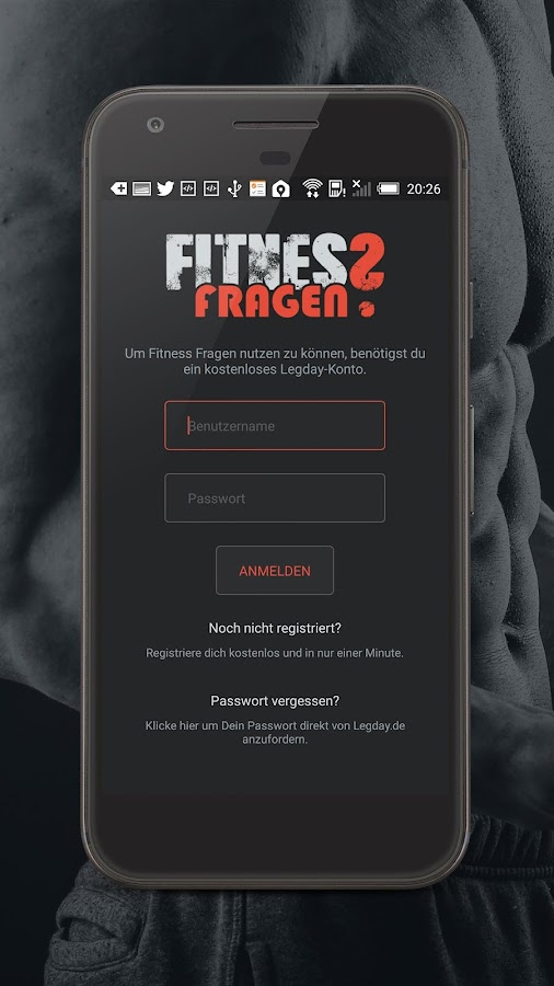 Fitness Fragen- screenshot