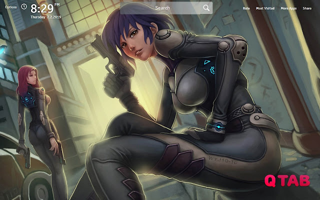 Ghost in the Shell Wallpapers Theme New Tab
