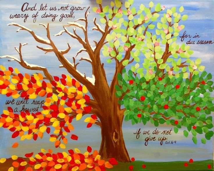 Image result for fall season quotes images | Four seasons painting, Tree painting, Painting