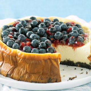 Blueberry and Ricotta Cheesecake.