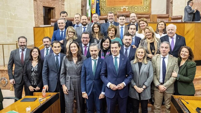 Parlamentarios andaluces del PP.
