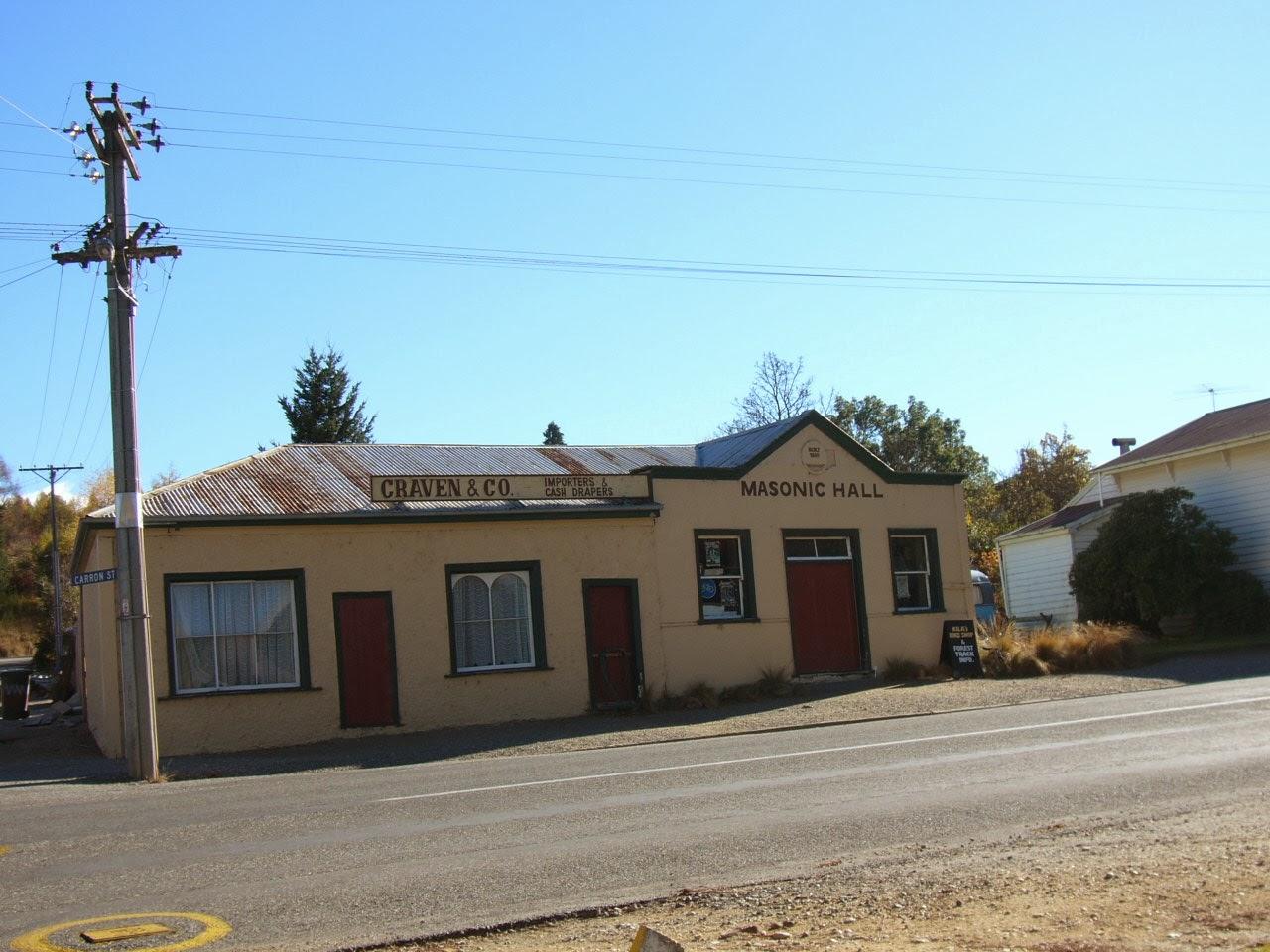 Photo: Masonic Hall; Craven & Co. Importers & Cash Drapers.