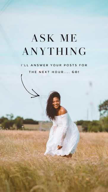 Ask Me Anything Photo - Facebook Story Template