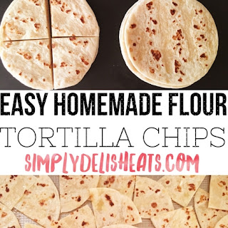 Easy Baked Flour Tortilla Chips.