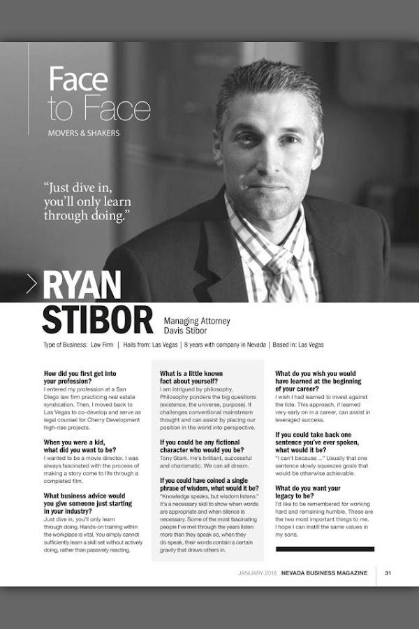 Nevada Business Magazine- screenshot