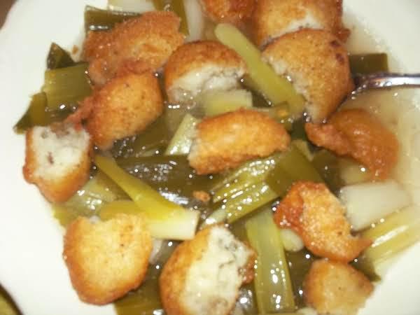 Bea's Green Onions & Hushpuppies