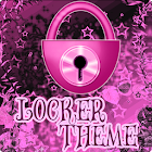 Theme Pink Dark GO Locker icon