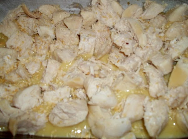 Place diced chicken in 3 quart baking dish. I doubled the batch of soups,...