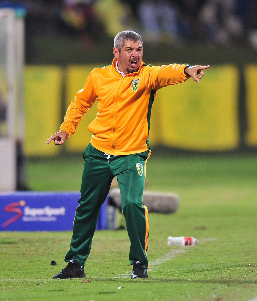 Clinton Larsen of Golden Arrows reacts during the Absa Premiership 2016/17 match between Golden Arrows and Mamelodi Sundowns at the Prince Magogo Stadium, South Africa on 28 April 2017.