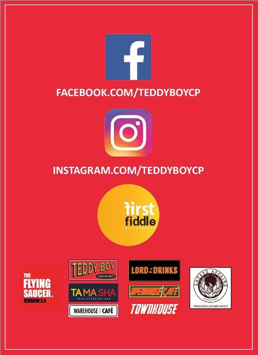 Teddy Boy menu 9
