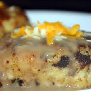 Turkey Mashed Potato Stuffing Burgers.