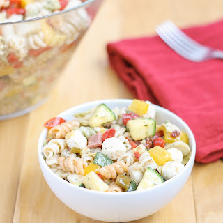 Everything but the Kitchen Sink Pasta Salad Recipe