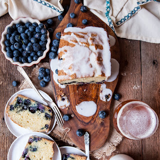 Blueberry Muffin Beer Loaf Cake