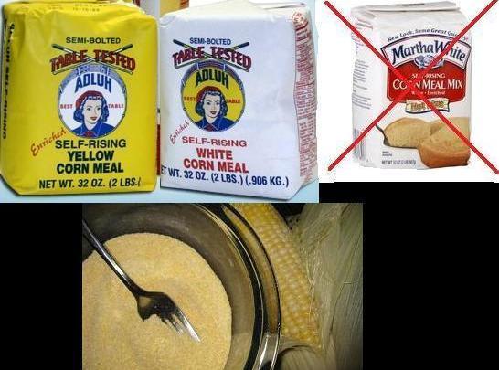 Cornmeal, Self Rising Recipe