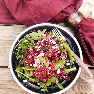 Roasted Beets, Barley and Feta Salad