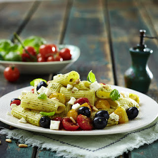 Olive, Tomato and Feta Rigatoni
