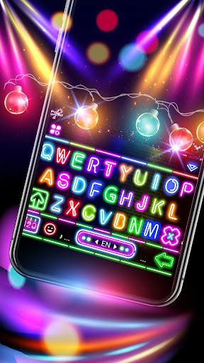 sparkle neon led lights keyboard theme screenshot 2