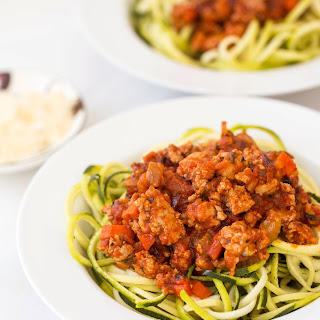 Turkey Bolognese with Zucchini Noodles Recipe