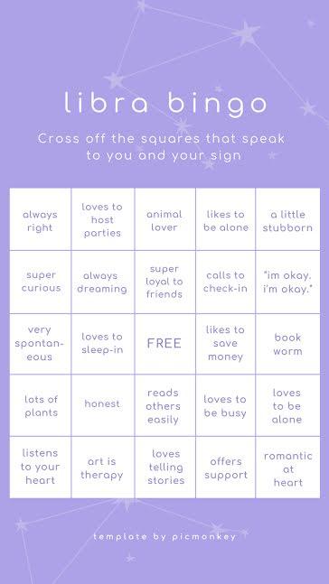 Libra Bingo - Facebook Story Template