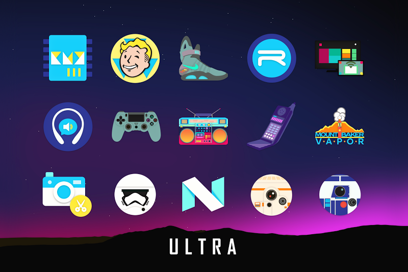 ULTRA - 80s Vaporwave Icon Pack Screenshot 1