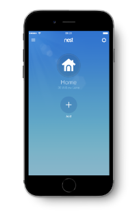 Nest app add new device screen
