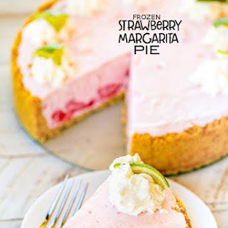 Frozen Strawberry Margarita Pie.