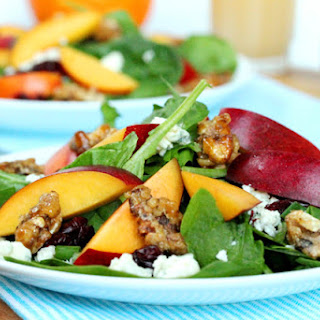Spinach and Nectarine Salad with Orange Citrus Vinaigrette