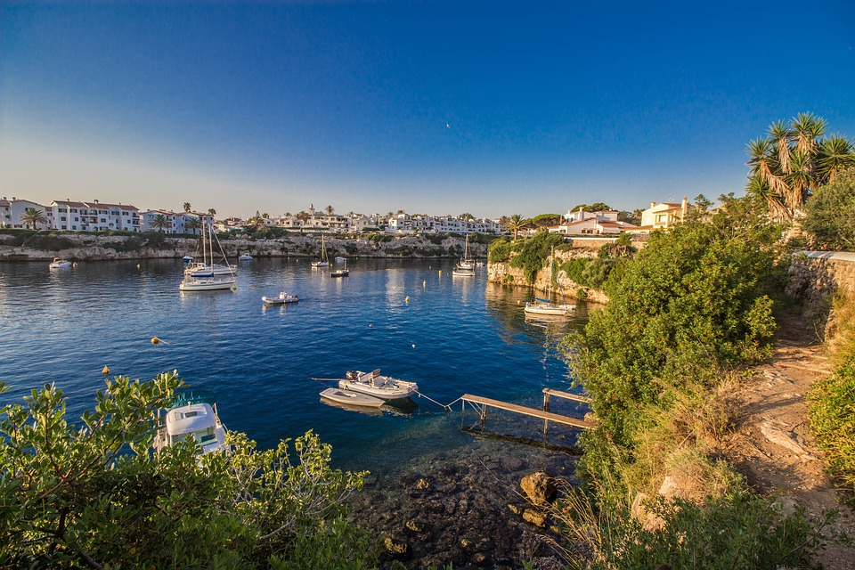 Menorca, Paisajes, España, Agua, Naturaleza, Puerto