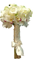 Photo: White Mini Calla Lily + Cymbidium Orchids Bride Boquet
