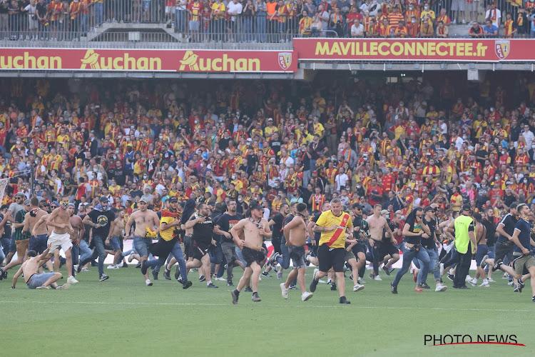 Ultra's Club Brugge in het stadion bij ongeregeldheden in Noord-Franse derby