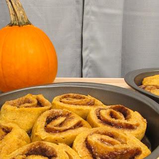 Gluten Free Pumpkin Cinnamon Rolls #PumpkinWeek