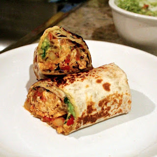 Pulled Chicken Burrito.