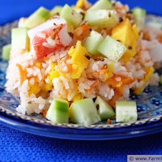 Surimi Chirashi Sushi with Summer Vegetables