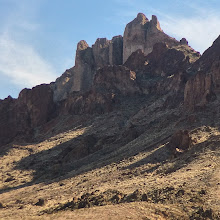 Photo: Arch and peaks, Mojave Desert