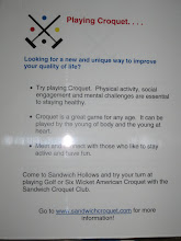 Photo: 3-24-2012. One of the posters about the croquet club, on display at Sandwich's Wellness Fair.