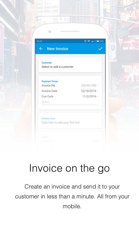 Invoice Now with Debitoor- screenshot