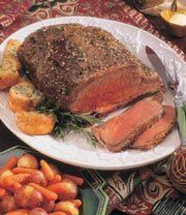 Beef Rib Roast With Yorkshire Pudding Recipe