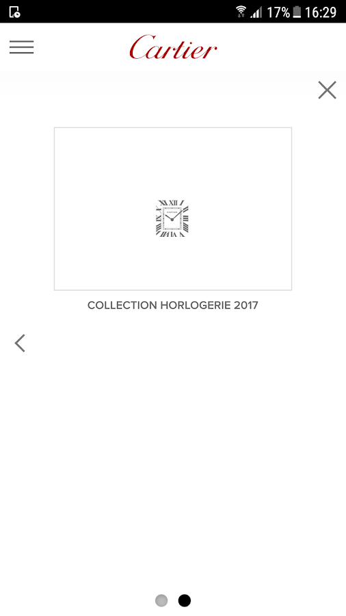 Cartier - Catalogue – Capture d'écran