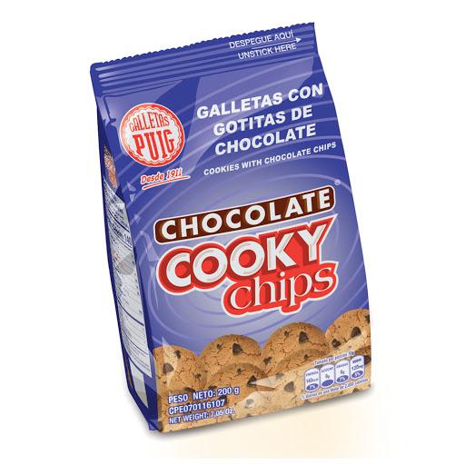 galletas cooky chips bolsa 200 gr 20und