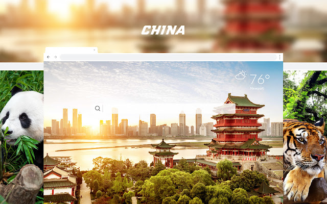 China HD Wallpaper New Tab Theme