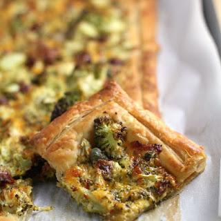 Broccoli Cheese Puffed Pizza.