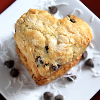 Toasted Coconut and Chocolate Chip Scones.