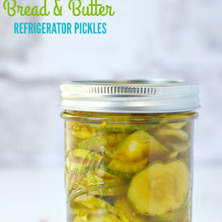 Lower Sugar Bread and Butter Refrigerator Pickles