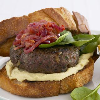 Burgers with Lime-Onion Relish