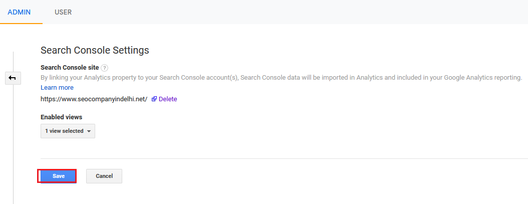 Search Console Setting