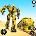 Futuristic Train Transforming Robot Games icon