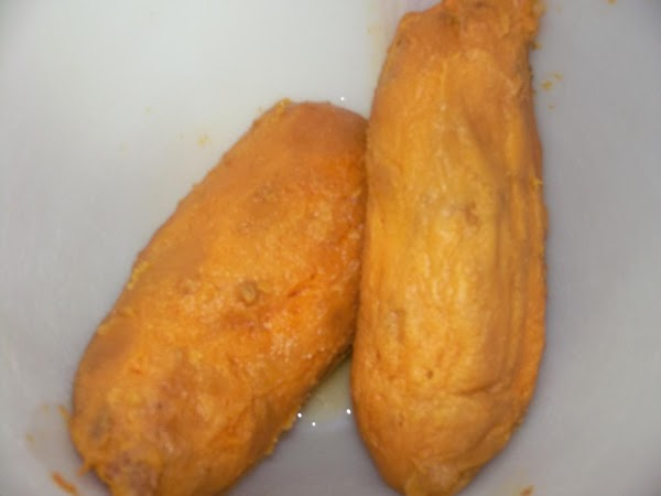 Cook 2 medium-sized sweet potatoes either by baking, boiling or microwaving them until tender...